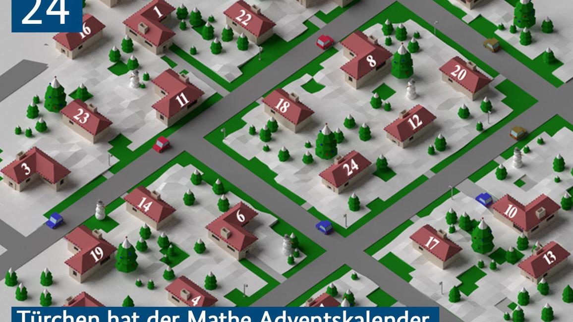 24 Türchen hat der Mathe Adventskalender