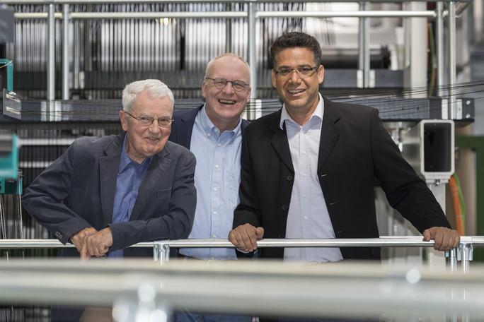Die Gewinner des Deutschen Zukunftspreises 2016: Peter Offermann, Manfred Curbach und Chokri Cherif.