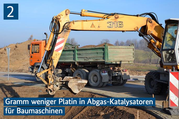 Bagger und Lastkraftwagen im Straßenbau
