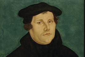 Luther, Martin Reformator Eisleben 10.11.1483– ebd. 18.2.1546. Porträt. Gemälde, 1529, Werkstatt Lucas Cranachs d. Ä.