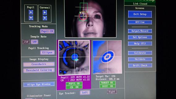 Die Eyetracking-Methode hilft, Aufmerksamkeits-Prozesse zu analysieren.