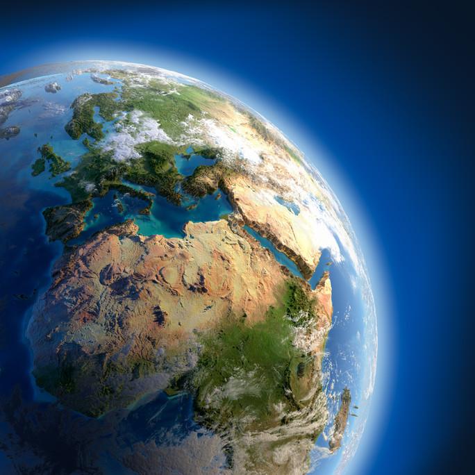 Erde im Weltraum