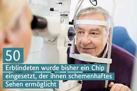 Ein Mann beim Augenarzt