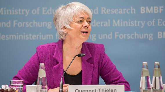 Pk zur Vorstellung des neuen Förderprojektes Digitalisierung in der Hochschule mit Cornelia Quennet-Thielen (Staatssekretärin im BMBF)