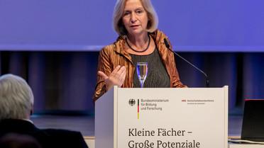 Bundesministerin Johanna Wanka während ihrer Rede.