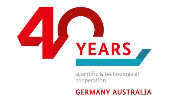 Logo zu 40 Jahre Zusammenarbeit Deutschland - Australien