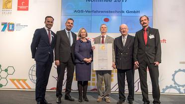 Die Firma AGS-Verfahrenstechnik wurde für das sogenannte auftriebsgestützte Slipping (AGS) für den Hermes Preis nominiert.