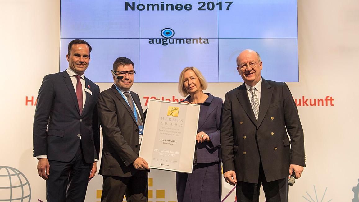 """Das finnische Start-Up Unternehmen wurde für das """"SmartPanel"""" für den Hermes Award nominiert. Es ermöglicht eine neue Interaktion mit industriellen Systemen, um die Nachteile von Touchscreens zu beseitigen."""