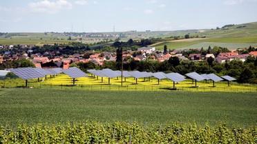 Der Solarpark in der Null-Emissions-Gemeinde Sprendlingen