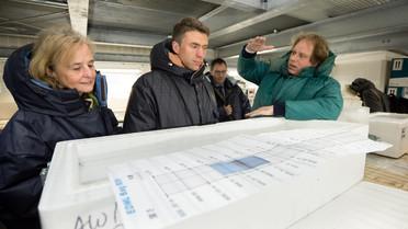 Stefan Müller besucht das Alfred-Wegener-Institut in Bremerhaven.