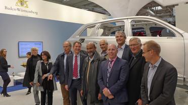 Die australische Innovationsdelegation beim Besuch der Hannovermesse.