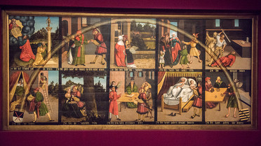 Zehn-Gebote-Tafel; Lucas Cranach D.Ä.; 1516; Öl auf Holz; Stiftung Luthergedenkstätten in Sachsen-Anhalt