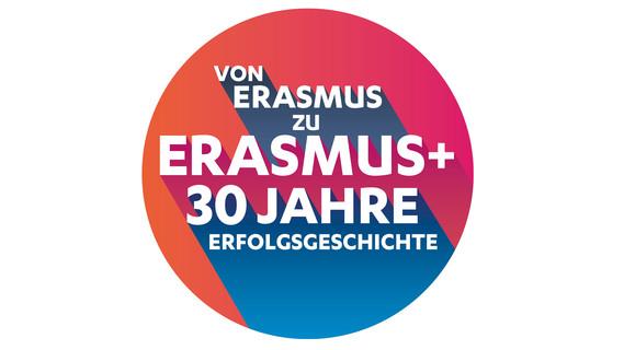Logo zu 30 Jahren Erasmus+