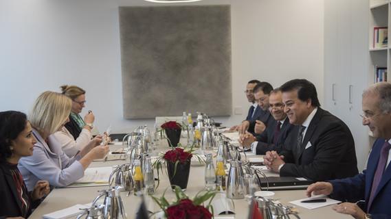 Bundesministerin Johanna Wanka empfängt in Berlin den ägyptischen Hochschulminister Khaled Abdel Ghaffar zu einem bilateralen Gespräch.
