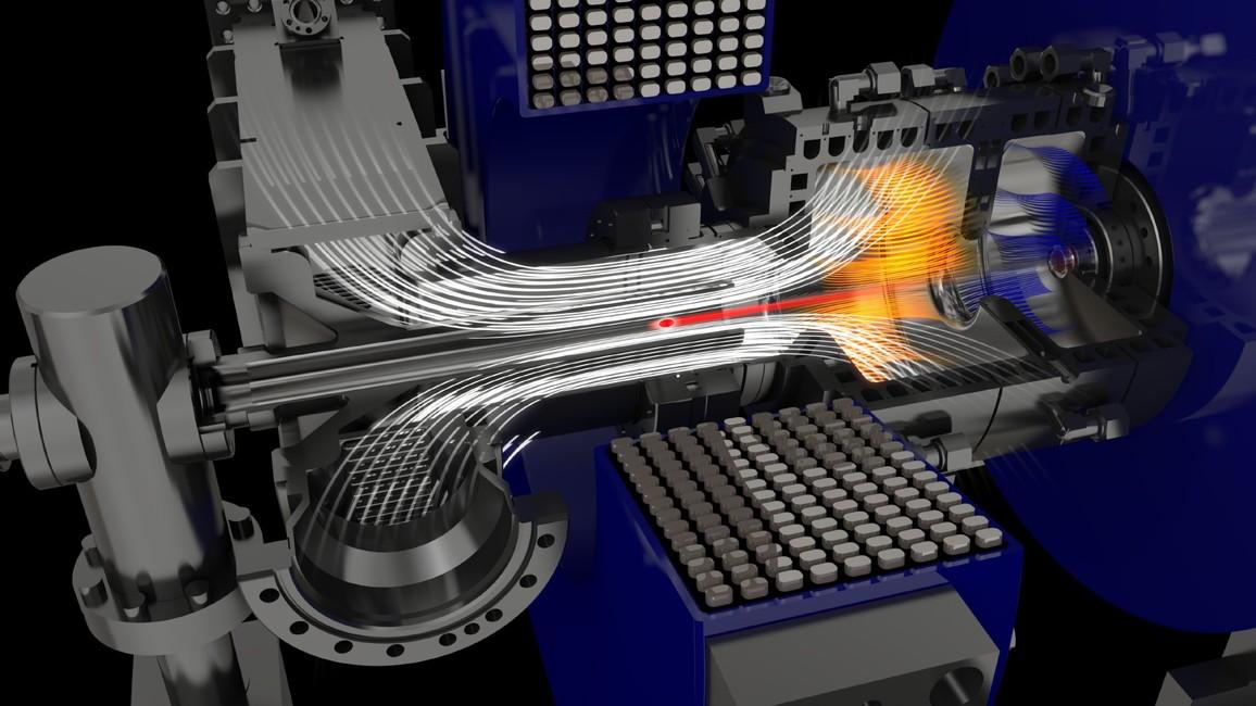 Erzeugung von freien Elektronen im Injektor - In der sogenannten