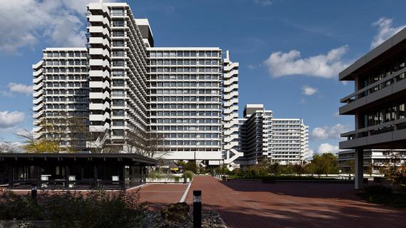Die Kreuzbauten des Bundesministeriums für Bildung und Forschung in Bonn.