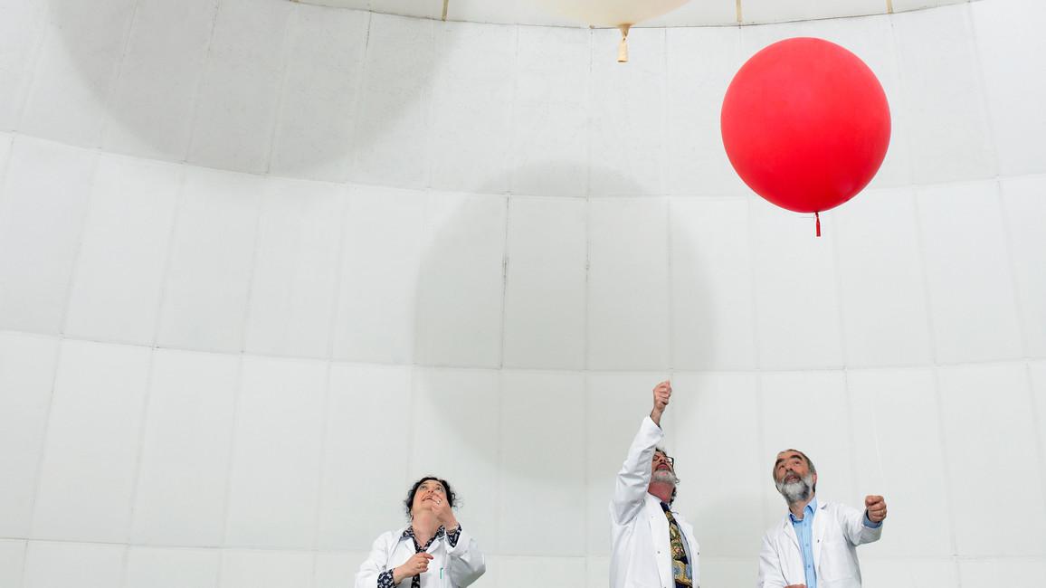 Wissenschaftler experimentieren mit Ballons