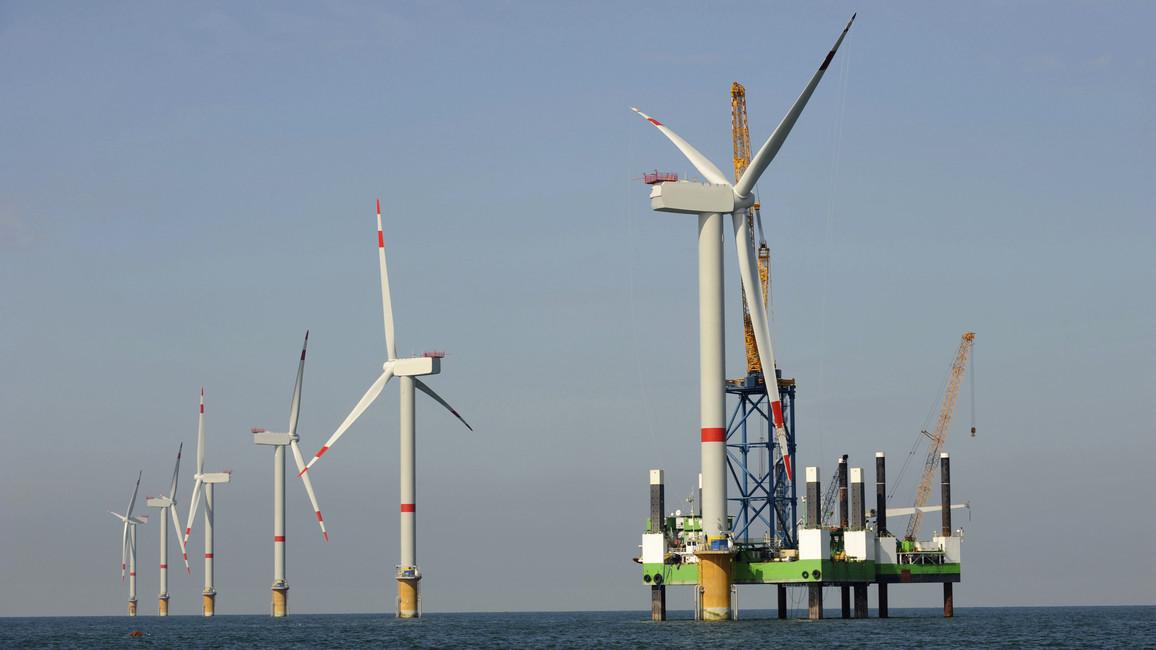 Windpark im Meer