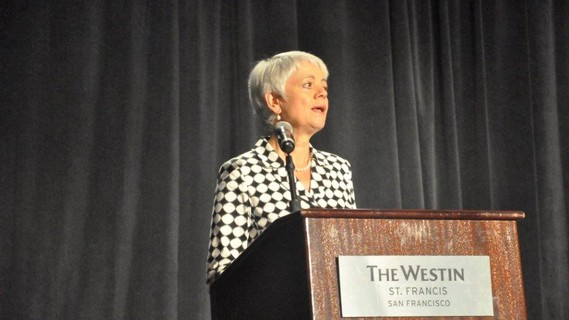 Cornelia Quennet-Thielen, Staatssekretärin im Bundesministerium für Bildung und Forschung, spricht auf der GAIN 2017
