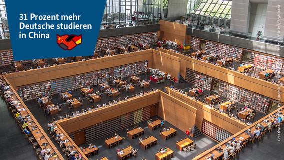 Zahl der Woche_ 31 Prozent mehr Deutsche studieren in China