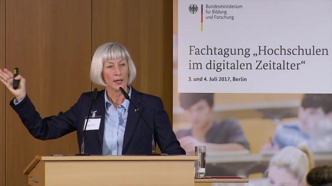 """Poster zum Video """"Digitale Hochschulbildung"""": Keynote von Diana G. Oblinger"""