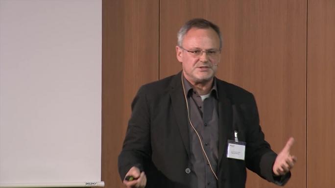 """Poster zum Video """"Digitale Hochschulbildung"""": Keynote von Jürgen Handke"""