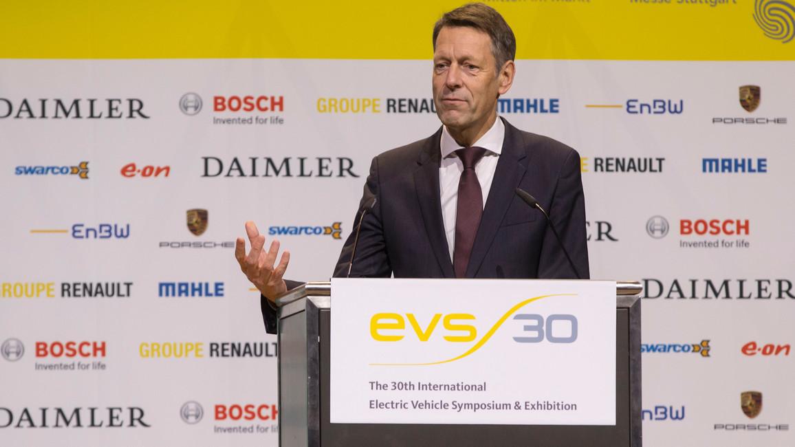 Georg Schütte, Staatssekretär im Bundesministerium für Bildung und Forschung, während seiner Keynote
