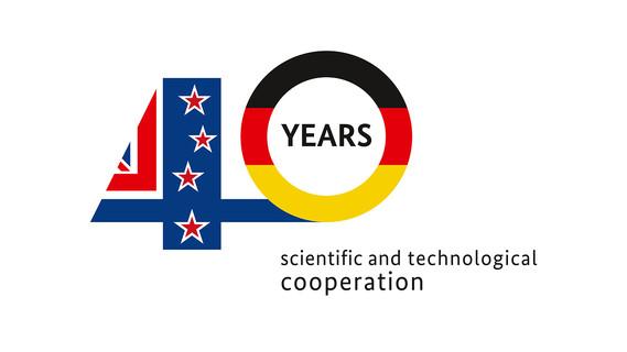Logo 40 Jahre Wissenschaftlich-Technologische Zusammenarbeit mit Neuseeland