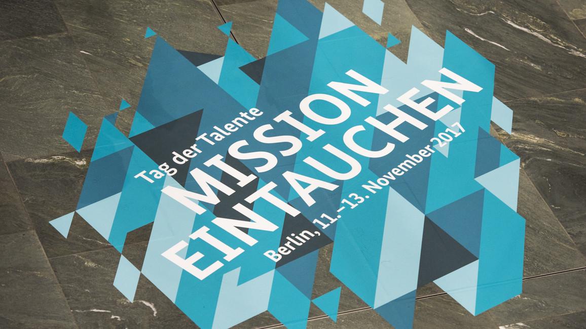 Mission Eintauchen - Motto vom Tag der Talente 2017