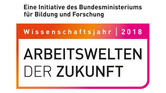 Logo zum Wissenschaftsjahr 2018 - Arbeitswelten der Zukunft