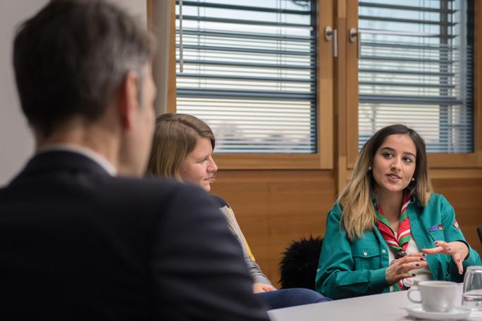 Vanessa berichtet von ihrem noch jungen Verband - dem Bund der Moslemischen Pfadfinder und Pfadfinderinnen Deutschlands.