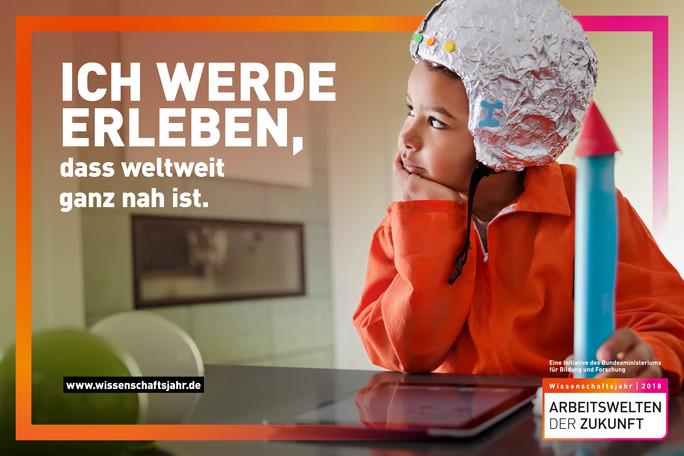 Plakatmotive zum Wissenschaftsjahr 2018 - Arbeitswelten der Zukunft