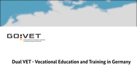 Poster zum Video Dual VET - Vocational Education and Training in Germany